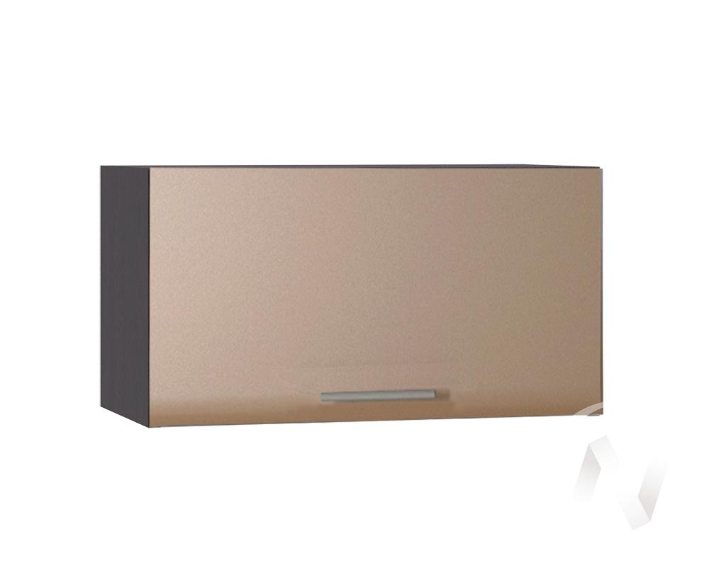 """Кухня """"Люкс"""": Шкаф верхний горизонтальный 600, ШВГ 600 (Шоколад матовый/корпус венге)"""