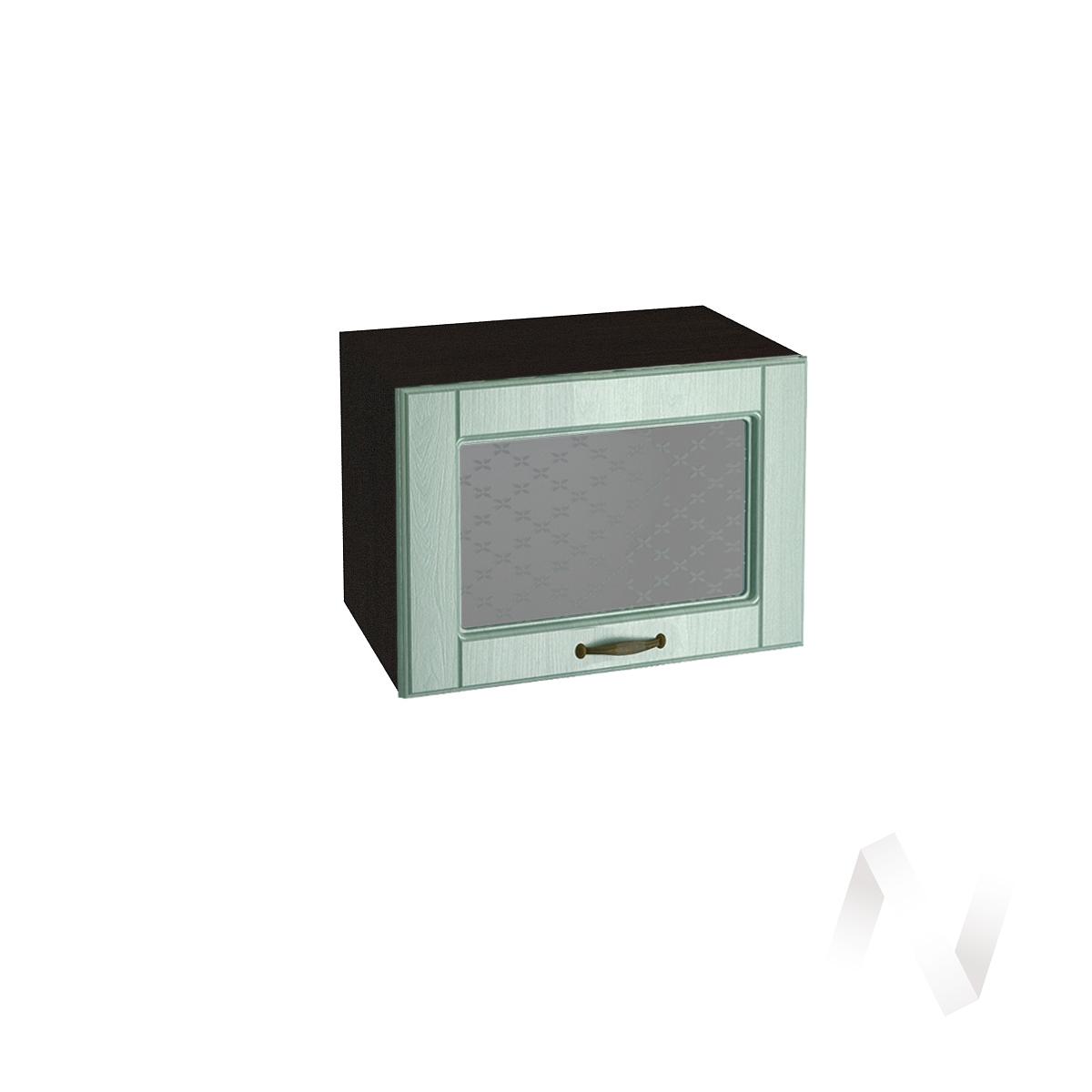 """Кухня """"Прованс"""": Шкаф верхний горизонтальный со стеклом 500, ШВГС 500 (корпус венге)"""