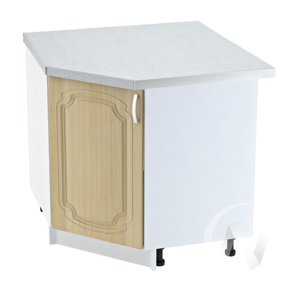 """Кухня """"Настя"""": Шкаф нижний угловой 890, ШНУ 890 (Береза/корпус белый)"""
