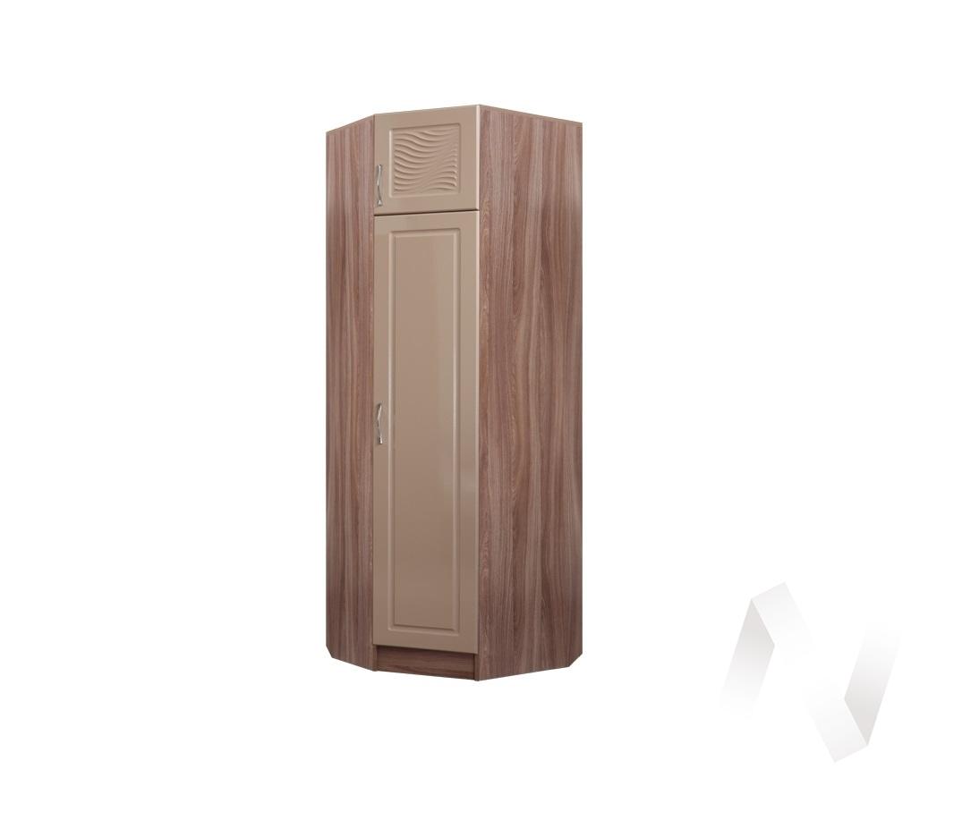 Шкаф угловой Прихожая Вега (ясень шимо темный-мокко глянец)
