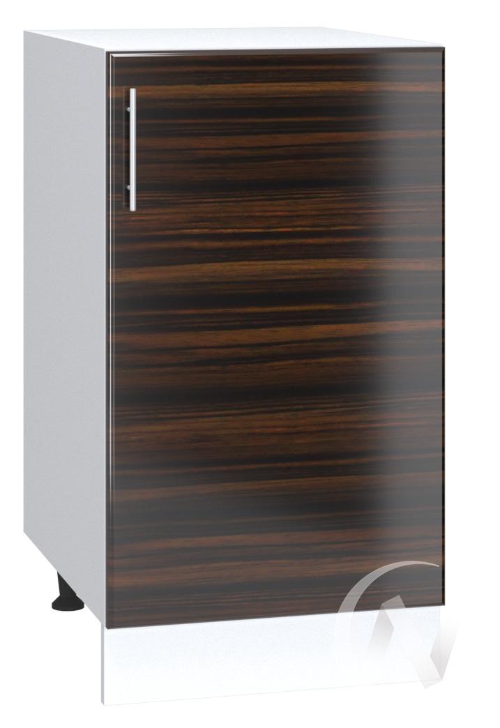 "Кухня ""Норден"": Шкаф нижний 400, ШН 400 (эбен/корпус белый)"