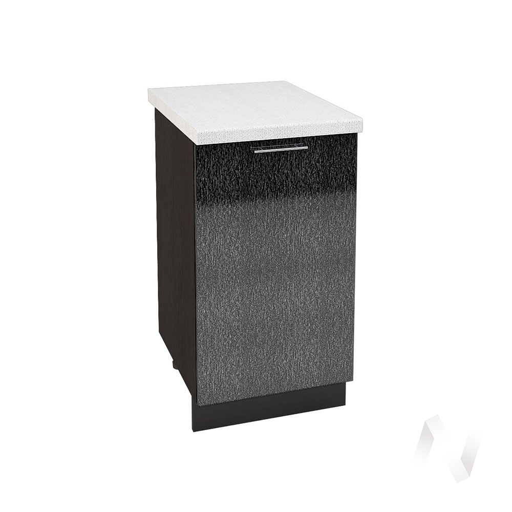 """Кухня """"Валерия-М"""": Шкаф нижний 450, ШН 450 (дождь черный/корпус венге)"""