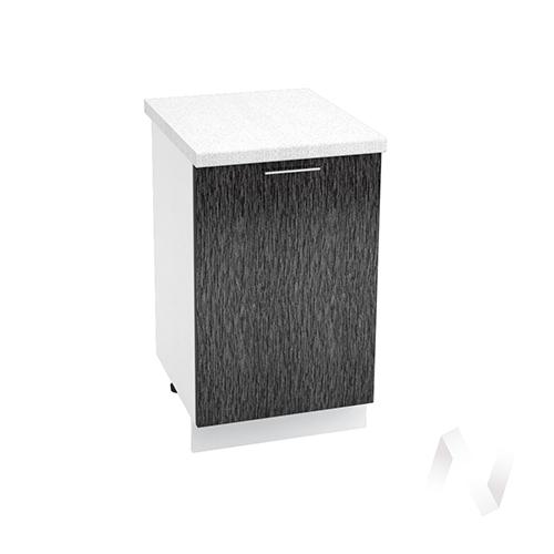 "Кухня ""Валерия-М"": Шкаф нижний 500, ШН 500 (дождь черный/корпус белый)"