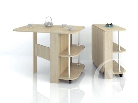 Стол-книжка с полками (дуб сонома)  в Томске — интернет магазин МИРА-мебель