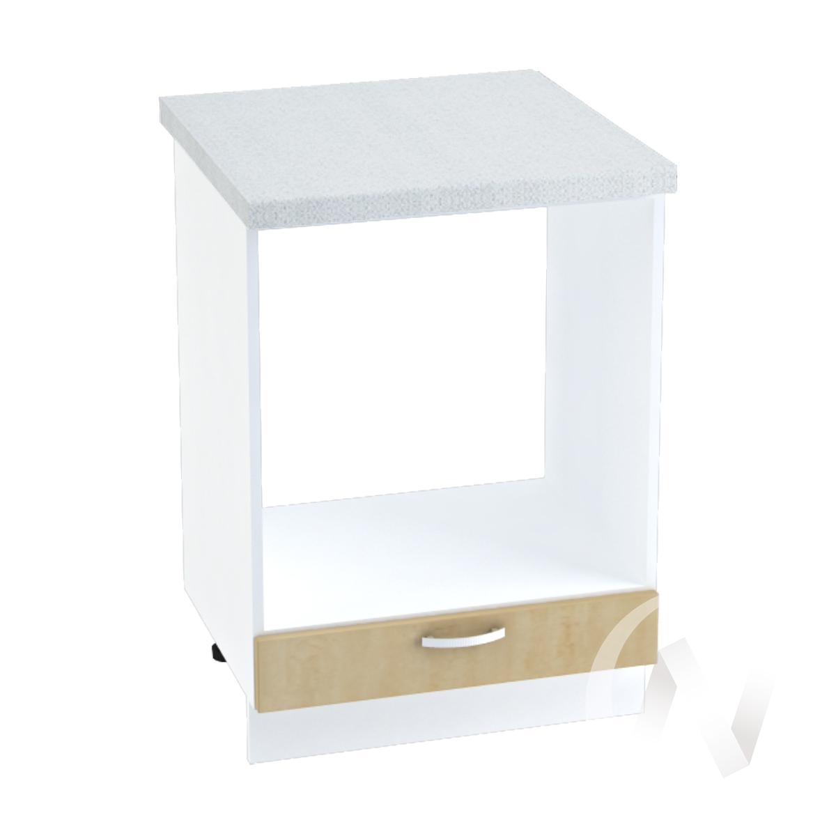 "Кухня ""Настя"": Шкаф нижний под духовку 600, ШНД 600 (Береза/корпус белый)"
