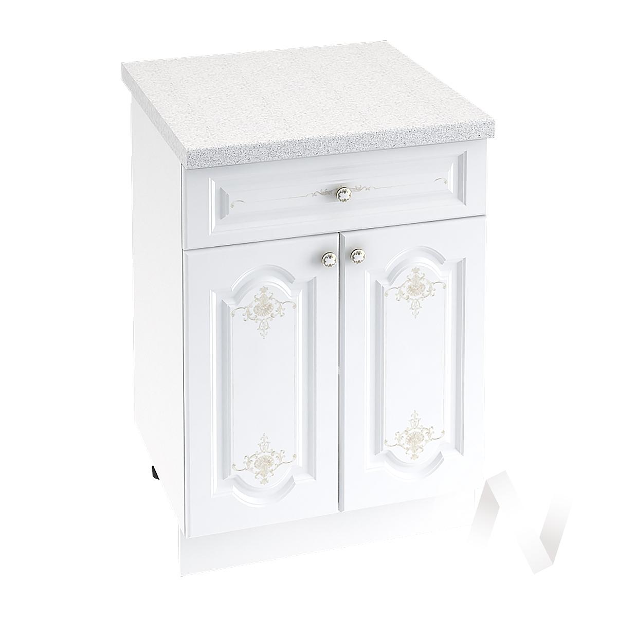 """Кухня """"Шарлиз"""": Шкаф нижний с ящиком 600, ШН1Я 600 М (корпус белый)"""