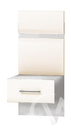 Тумба прикроватная с 1-м ящиком Николь МДФ (ясень шимо светлый/кофе с молоком)  в Новосибирске - интернет магазин Мебельный Проспект