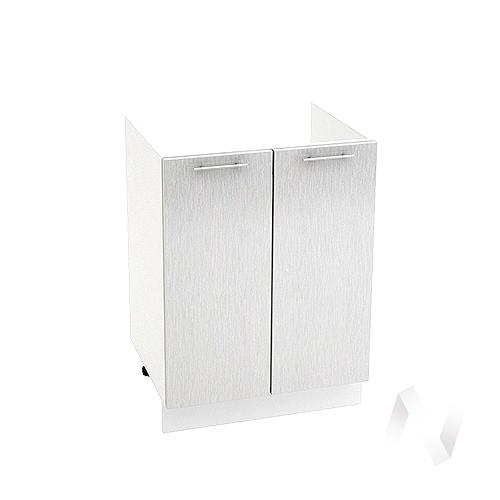 "Кухня ""Валерия-М"": Шкаф нижний под мойку 600, ШНМ 600 (дождь серый/корпус белый)"