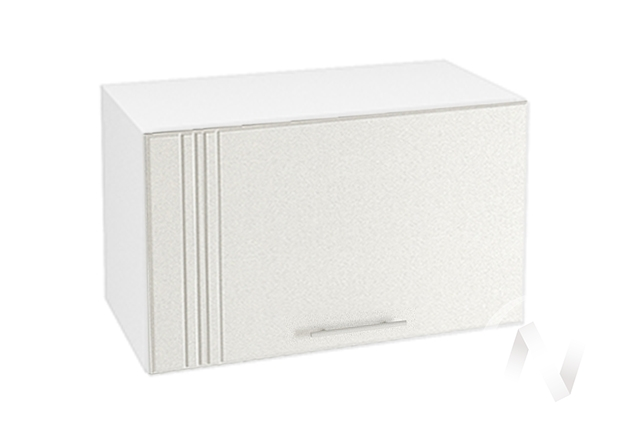 """Кухня """"Струна"""": Шкаф верхний горизонтальный 600, ШВГ 600 (белый металлик/корпус белый)"""