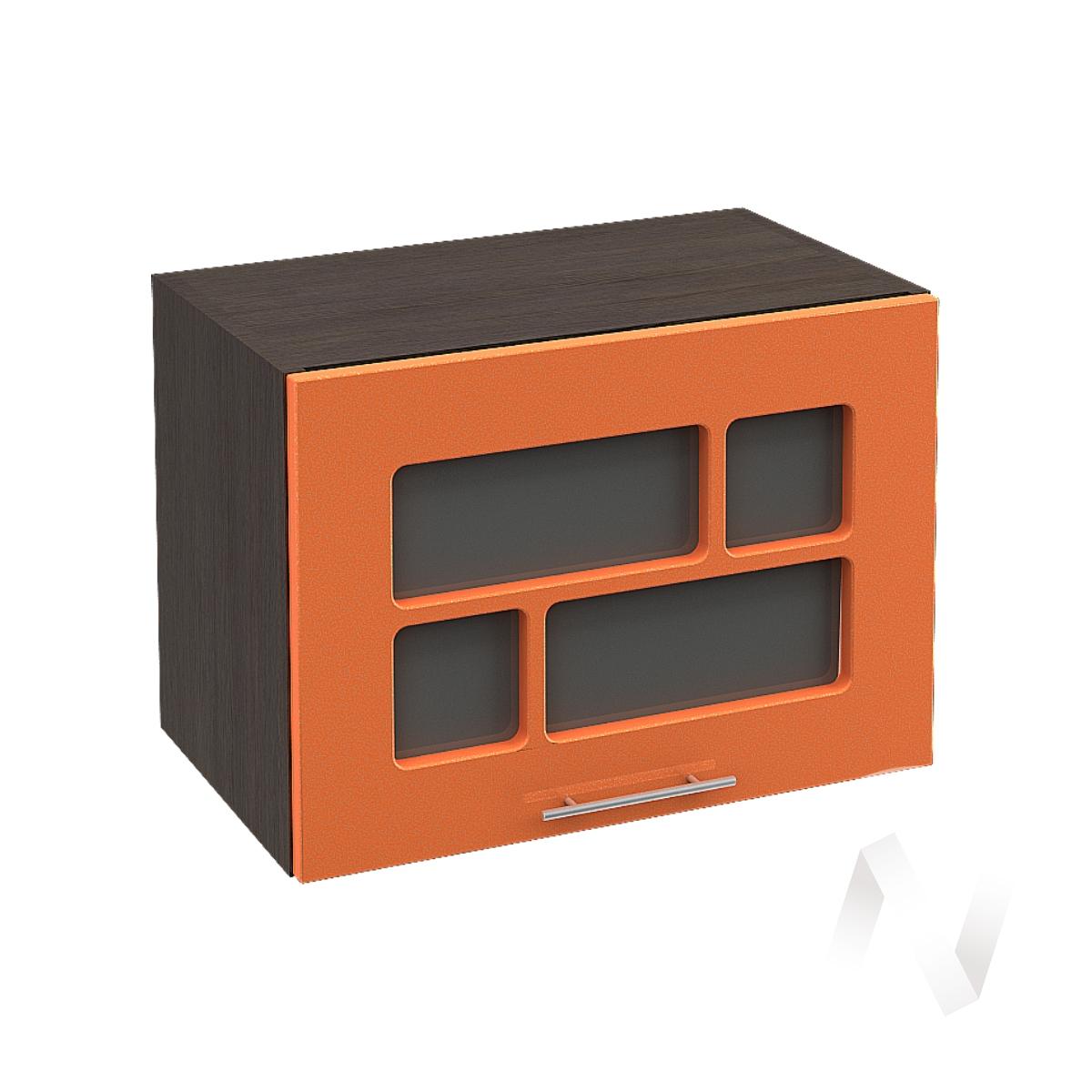 """Кухня """"Техно"""": Шкаф верхний горизонтальный со стеклом 500, ШВГС 500 (корпус венге)"""