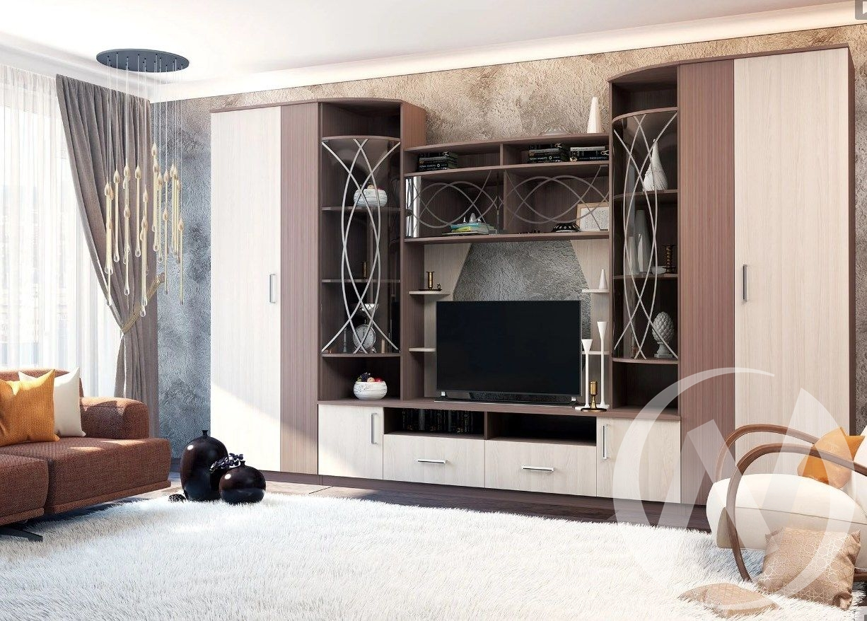 Гостиная Атланта 41ГАЯ (шимо тёмный/шимо светлы) Ц2КР  в Томске — интернет магазин МИРА-мебель