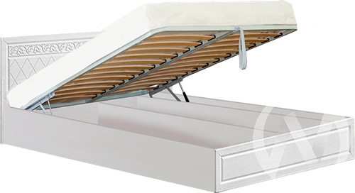 Флоренция Кровать 1,4 №1 с подъемным механизмом (бодега/рельеф пастель)