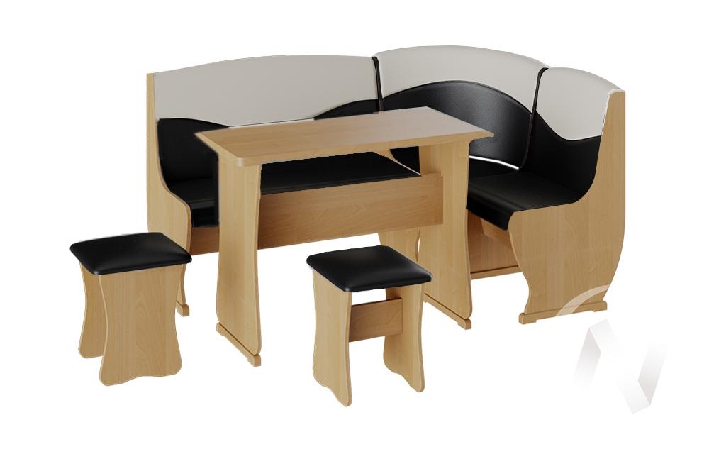 Кухонный уголок Уют 2 универсал кожзам (ольха/шоколад,бежевый) недорого в Томске — интернет-магазин авторской мебели Экостиль
