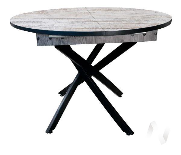 Стол раздвижной Норд 4 (черный/сосна монрепо/металлокаркас черный)