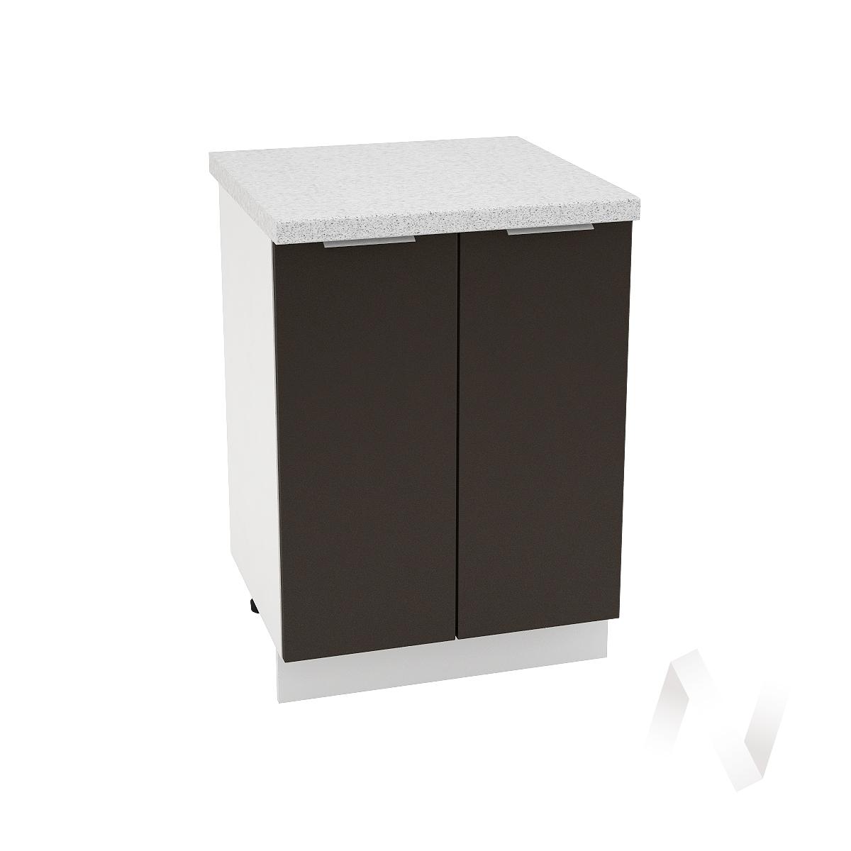 "Кухня ""Терра"": Шкаф нижний 600, ШН 600 (смоки софт/корпус белый)"