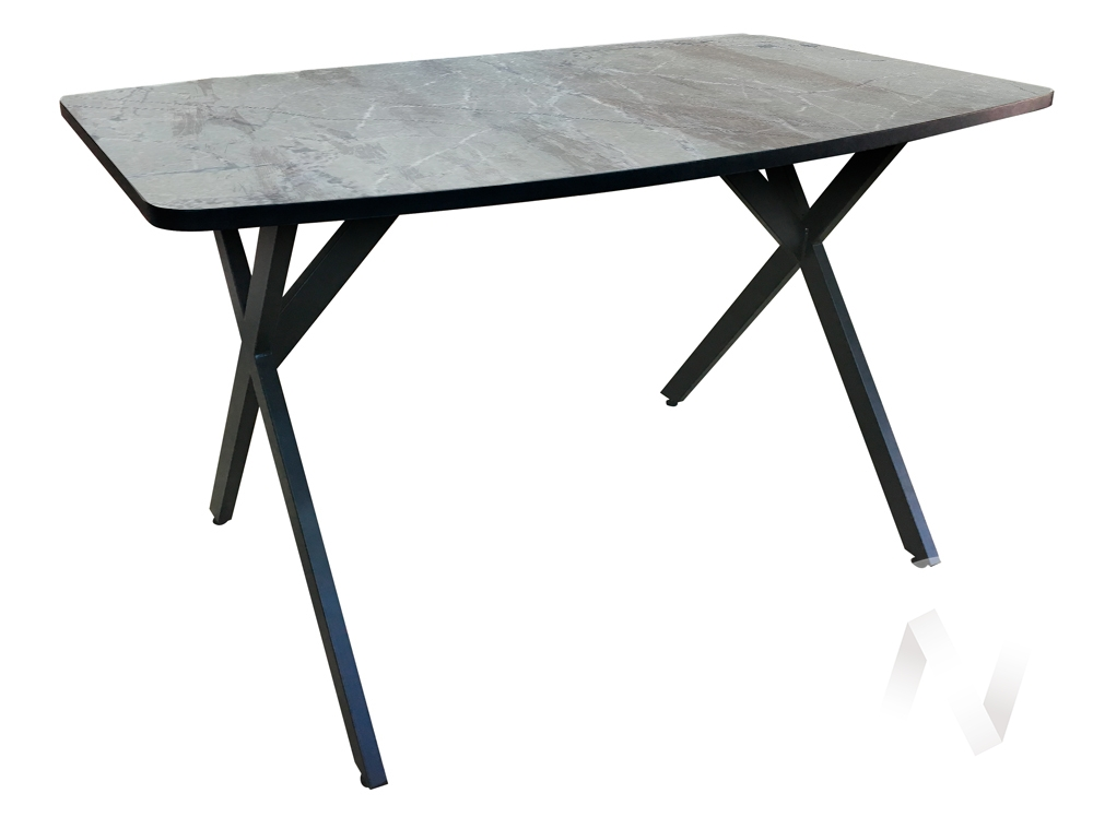 Стол Rolf (венге/мрамор марквина синий/металлокаркас черный)