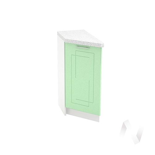 """Кухня """"Вега"""": Шкаф нижний торцевой 300, ШНТ 300 (салатовый металлик/корпус белый)"""