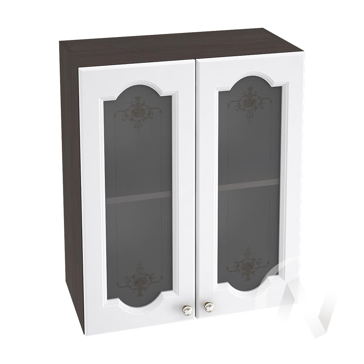 """Кухня """"Шарлиз"""": Шкаф верхний со стеклом 600, ШВС 600 (корпус венге)"""