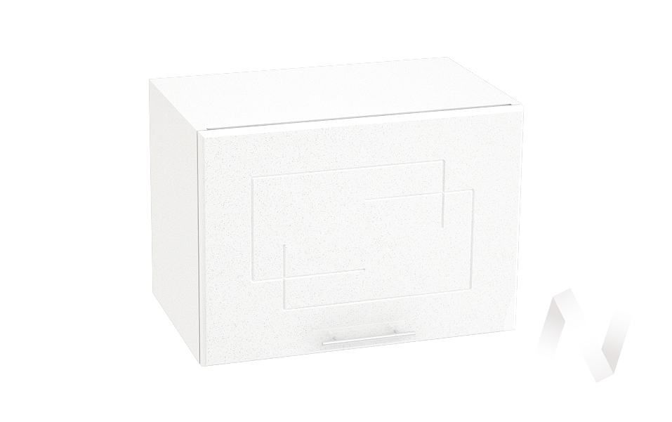 """Кухня """"Вега"""": Шкаф верхний горизонтальный 500, ШВГ 500 (белый металлик/корпус белый)"""