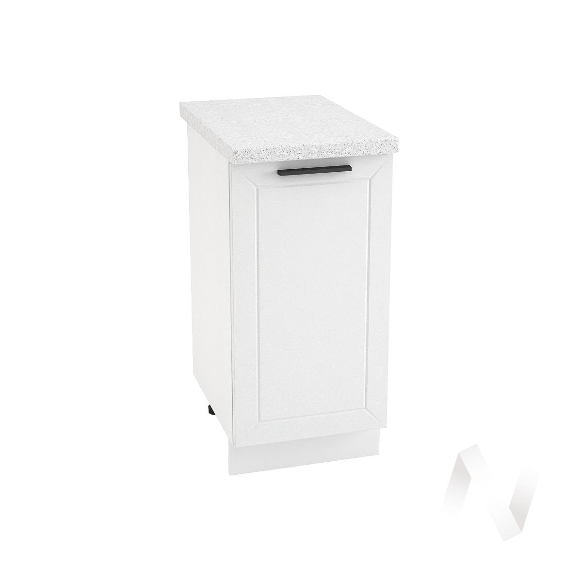 """Кухня """"Глетчер"""": Шкаф нижний 400, ШН 400 (Айленд Силк/корпус белый)"""