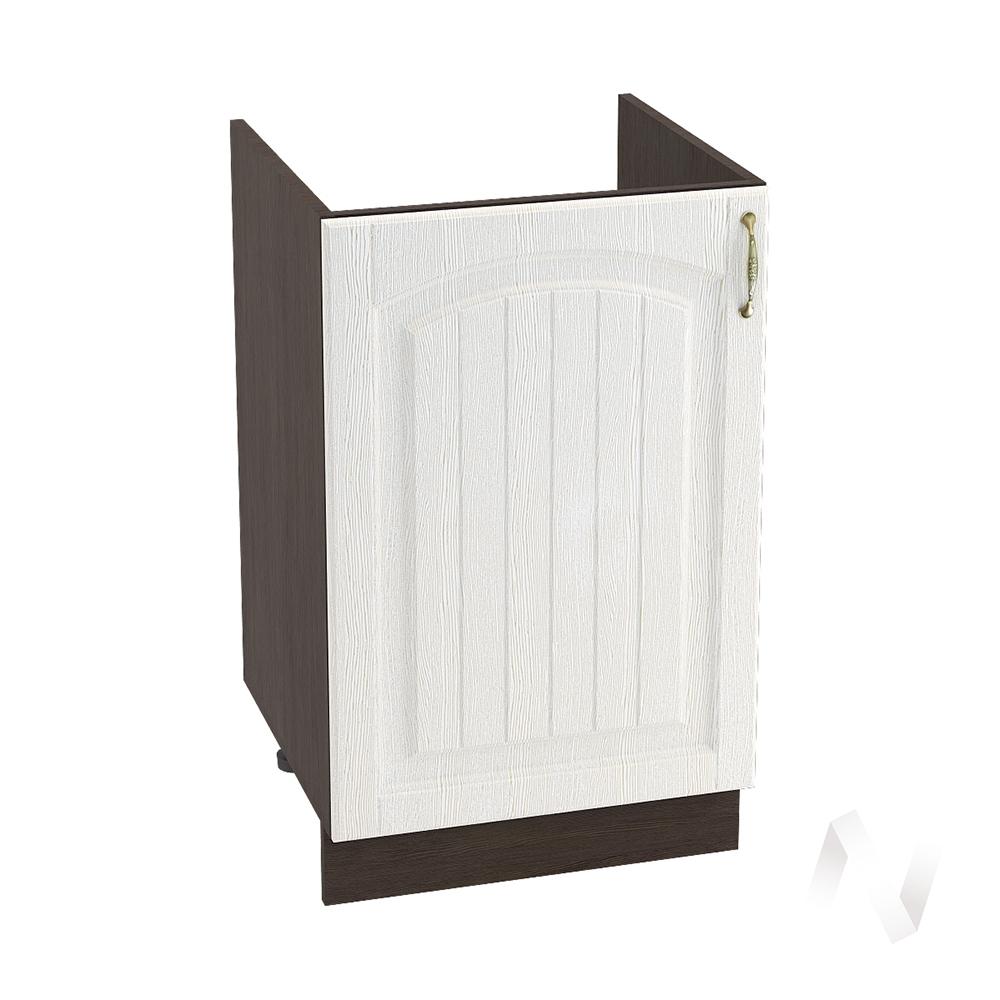 """Кухня """"Верона"""": Шкаф нижний под мойку 500, ШНМ 500 (ясень золотистый/корпус венге)"""