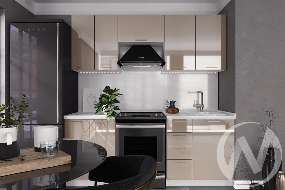 """Кухня """"Валерия-М"""": Капучино глянец (корпус белый)"""