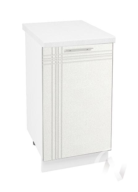 """Кухня """"Струна"""": Шкаф нижний 450, ШН 450 (белый металлик/корпус белый)"""
