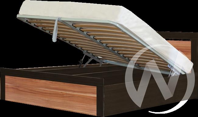 Токио Кровать 1,4 с подъемным механизмом (венге-слива валлис) в Томске — авторская мебель Экостиль