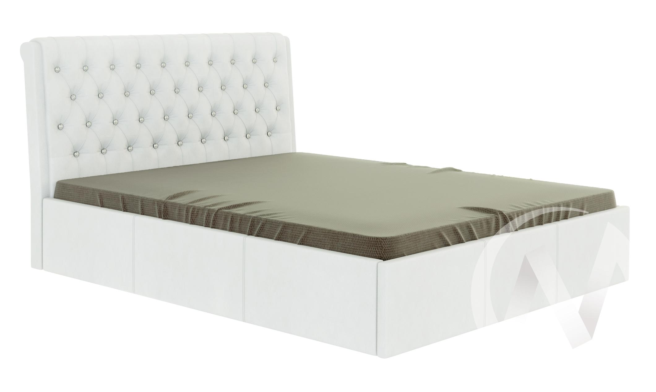 Кровать Прима 1,6 с подъемным механизмом (белый)  в Томске — интернет магазин МИРА-мебель