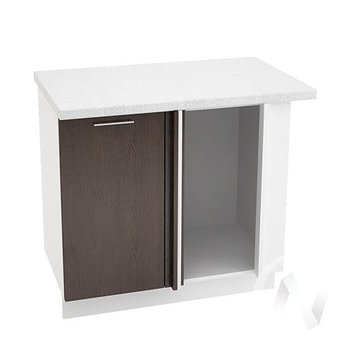 """Кухня """"Валерия-М"""": Шкаф нижний угловой 990М, ШНУ 990М (венге/корпус белый)"""