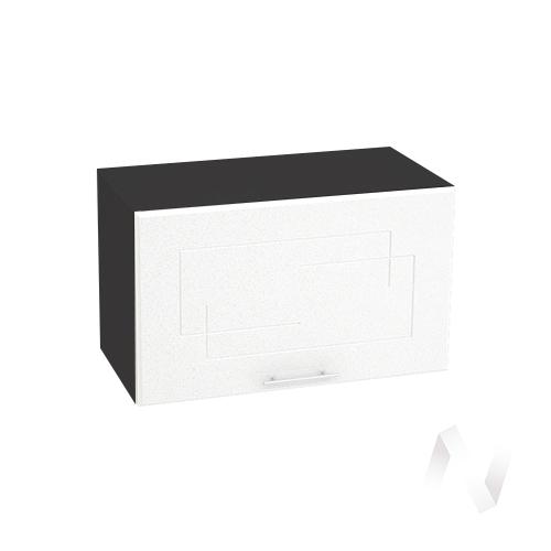 """Кухня """"Вега"""": Шкаф верхний горизонтальный 600, ШВГ 600 (белый металлик/корпус венге)"""
