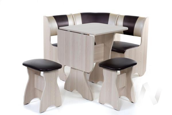"""Набор мебели для кухни """"Тюльпан"""" мини ясень С-221/С-101"""