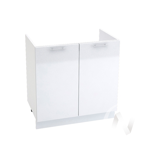 "Кухня ""Валерия-М"": Шкаф нижний под мойку 800, ШНМ 800 (белый металлик/корпус белый)"