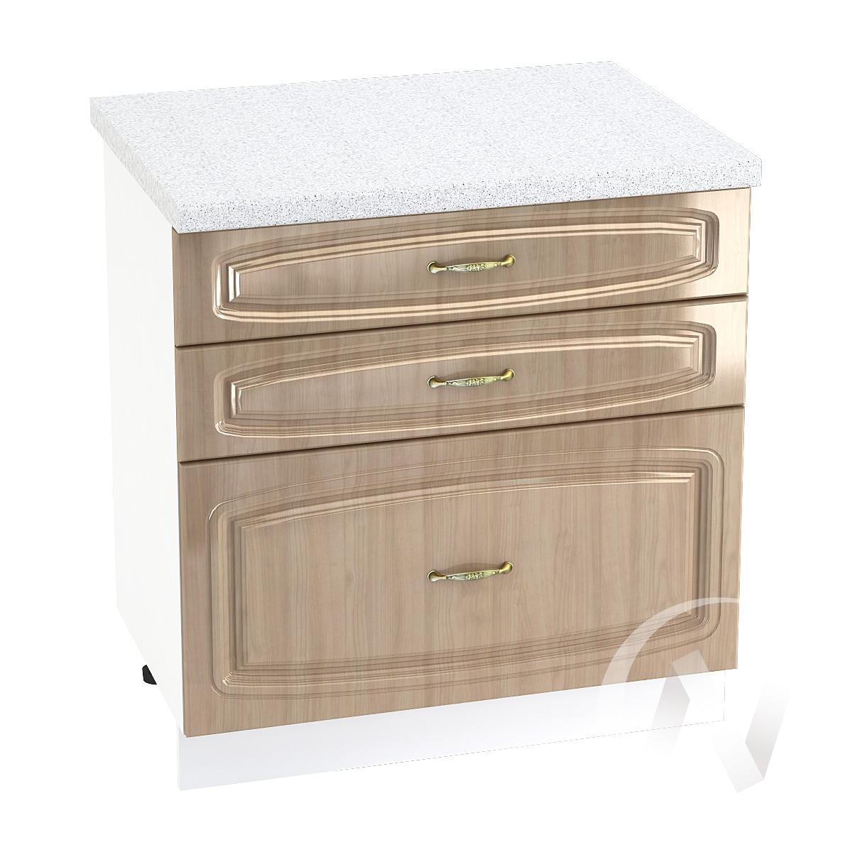"""Кухня """"Сити"""": Шкаф нижний с 3-мя ящиками 800, ШН3Я 800 (корпус белый)"""