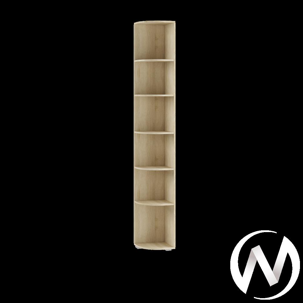 Угловой стеллаж ЛШ-10 Гостиная Ливорно (дуб сонома)