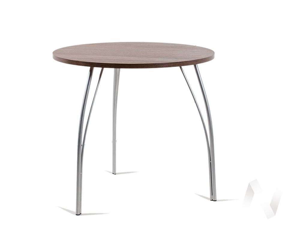 Стол Лотос (ясень шимо темный, серебро)  в Томске — интернет магазин МИРА-мебель