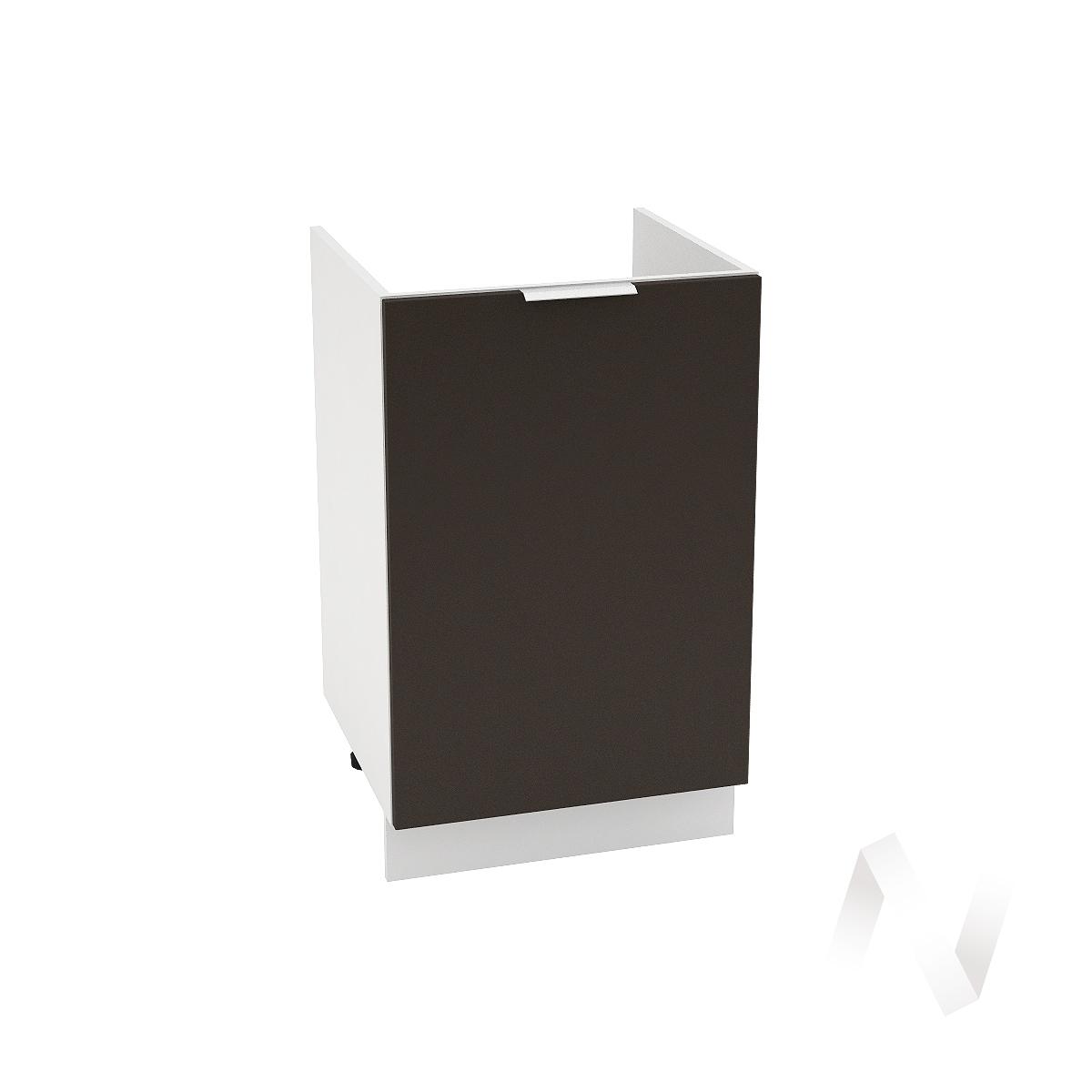 """Кухня """"Терра"""": Шкаф нижний под мойку 500, ШНМ 500 (смоки софт/корпус белый)"""