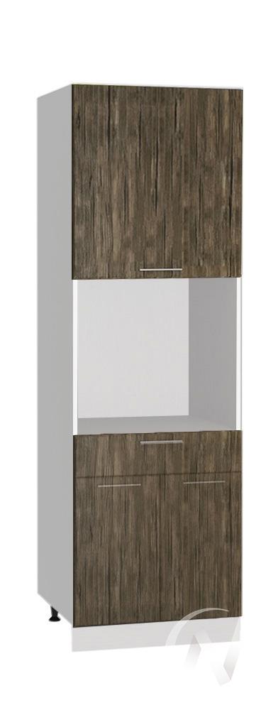 """Кухня """"Норден"""": Шкаф пенал с ящиком 600, ШП1Я 600 (старое дерево/корпус белый)"""
