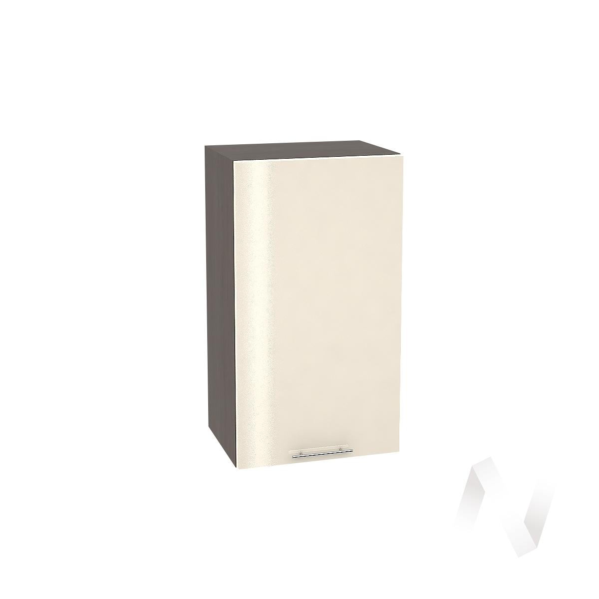 """Кухня """"Валерия-М"""": Шкаф верхний 400, ШВ 400 (Ваниль глянец/корпус венге)"""