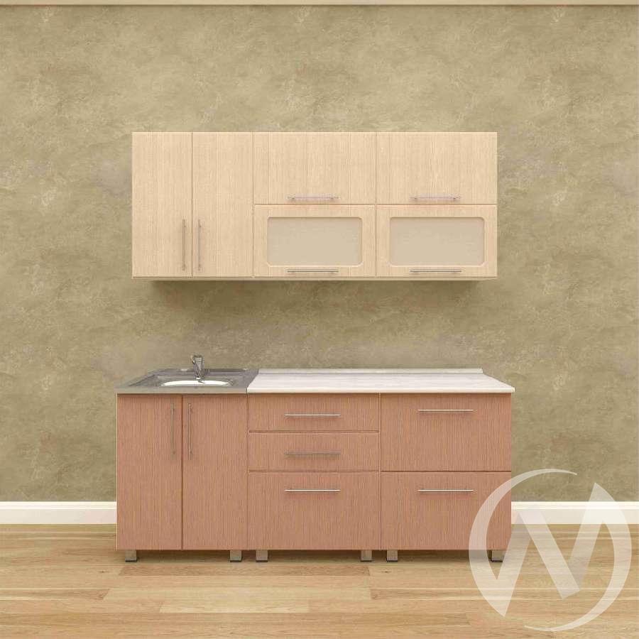 Кухня Марина 1,8 м (серый/белый бархат/малиновый бархат)