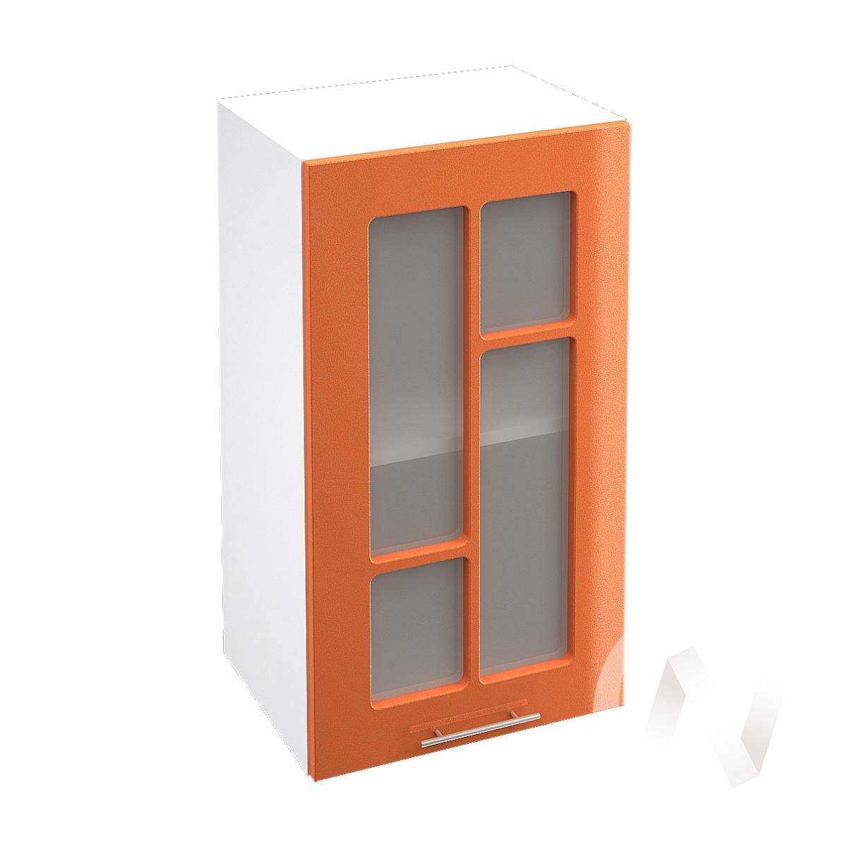 "Кухня ""Техно"": Шкаф верхний со стеклом 400, ШВС 400 (корпус белый)"