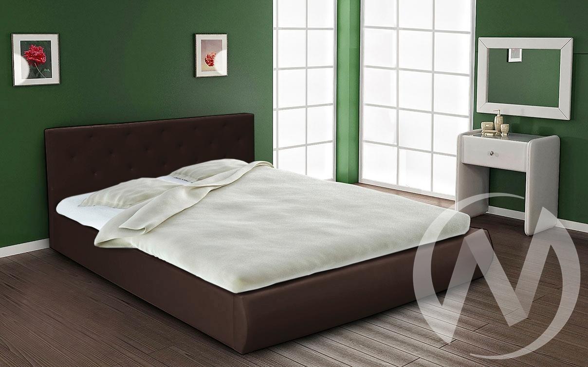 Кровать интерьерная 1,4 с подъемным механизмом (темно-коричневый)  в Томске — интернет магазин МИРА-мебель