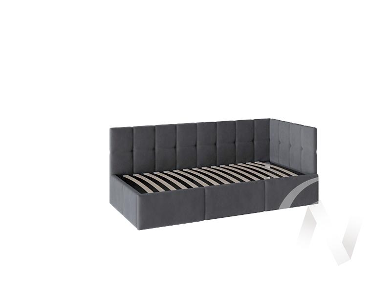 Кровать Оттава 0,9 с подъемным механизмом (серая)  в Томске — интернет магазин МИРА-мебель
