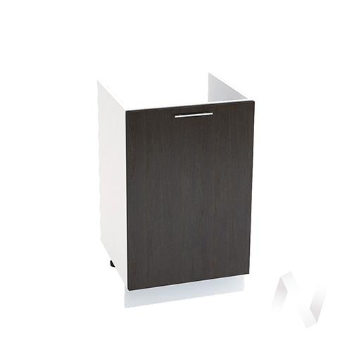 "Кухня ""Валерия-М"": Шкаф нижний под мойку 500, ШНМ 500 (венге/корпус белый)"