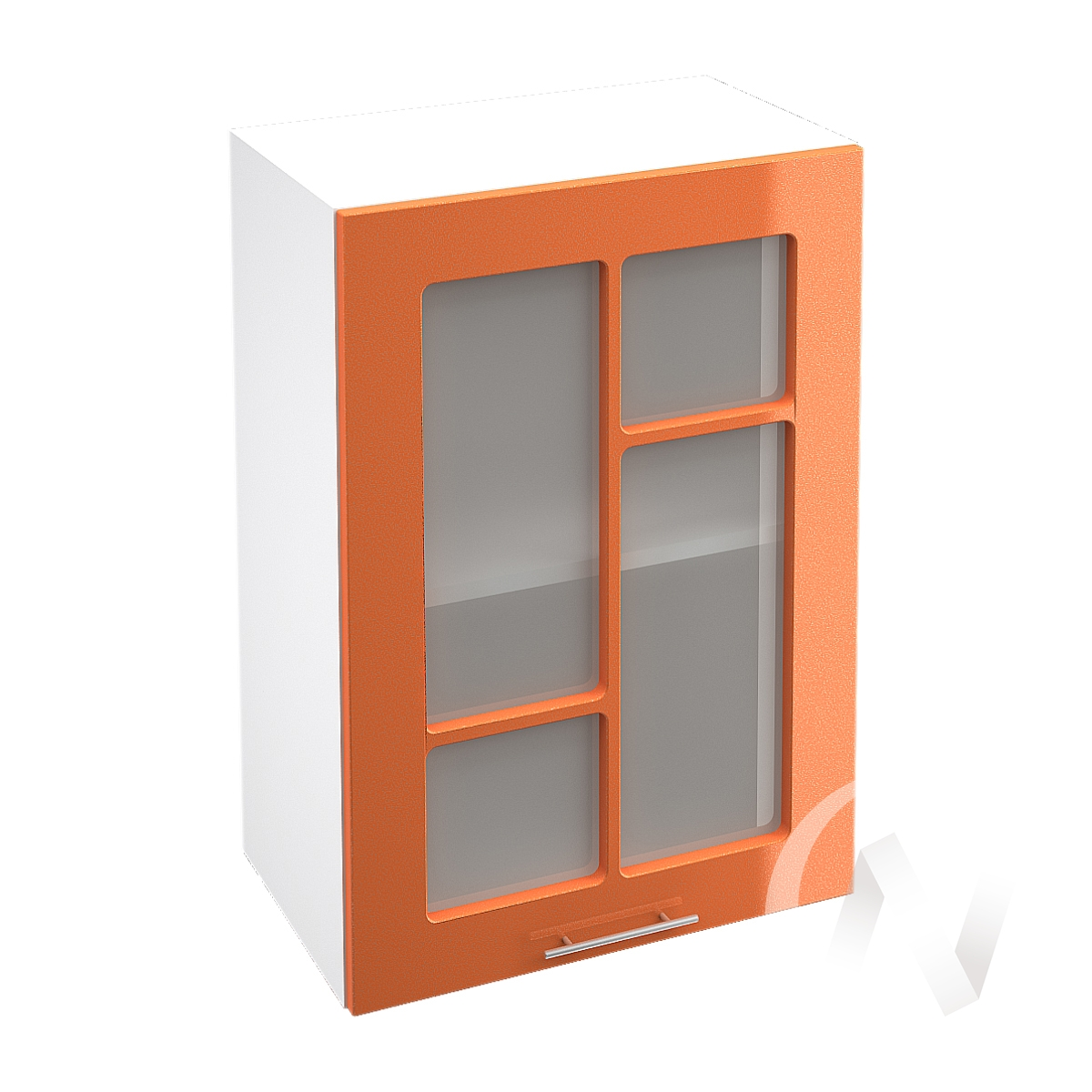 "Кухня ""Техно"": Шкаф верхний со стеклом 500, ШВС 500 (корпус белый)"