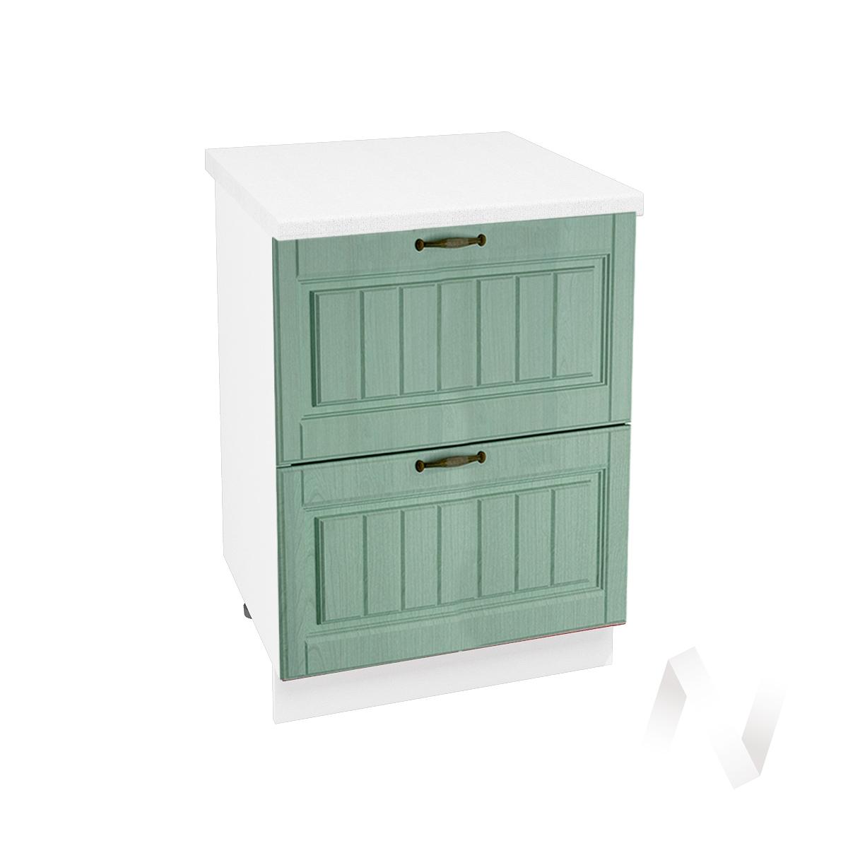 """Кухня """"Прованс"""": Шкаф нижний с 2-мя ящиками 600, ШН2Я 600 (корпус белый)"""
