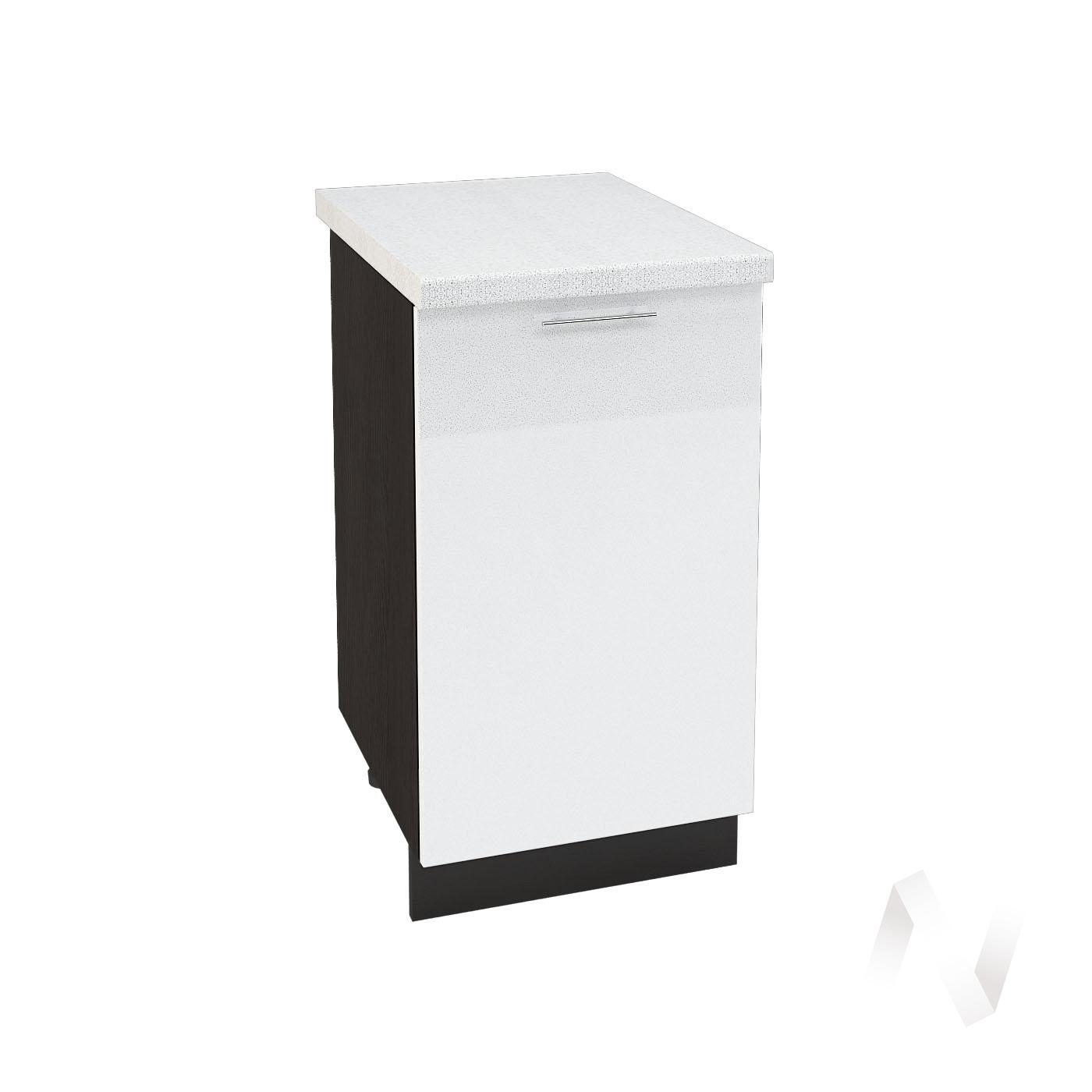 "Кухня ""Валерия-М"": Шкаф нижний 450, ШН 450 (белый металлик/корпус венге)"