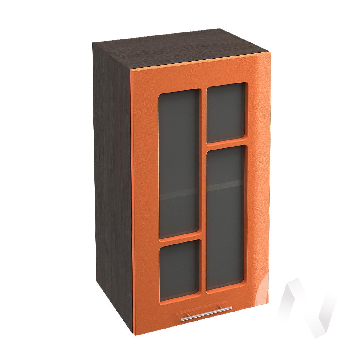 "Кухня ""Техно"": Шкаф верхний со стеклом 400, ШВС 400 (корпус венге)"