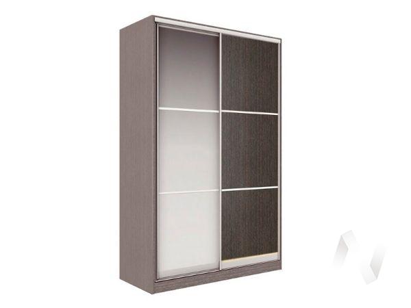 Шкаф-купе «Рене» 2-х дверный тройной с зеркалом (ясень шимо темный/венге)