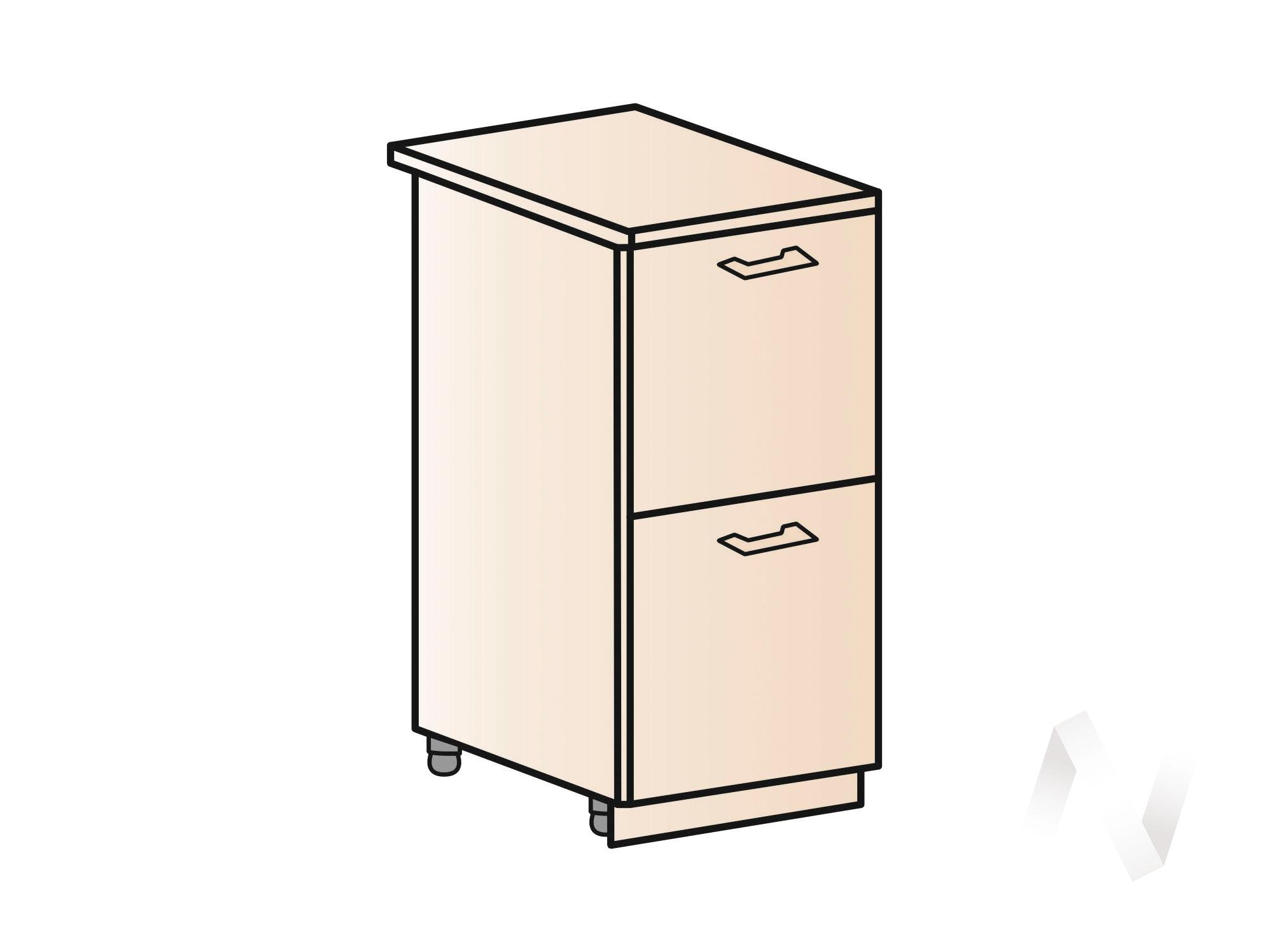 """Купить кухня """"вена"""": шкаф нижний с 2-мя ящиками 400, шн2я 400 (корпус белый) в Иркутске в интернет магазине Мебель Максимум"""
